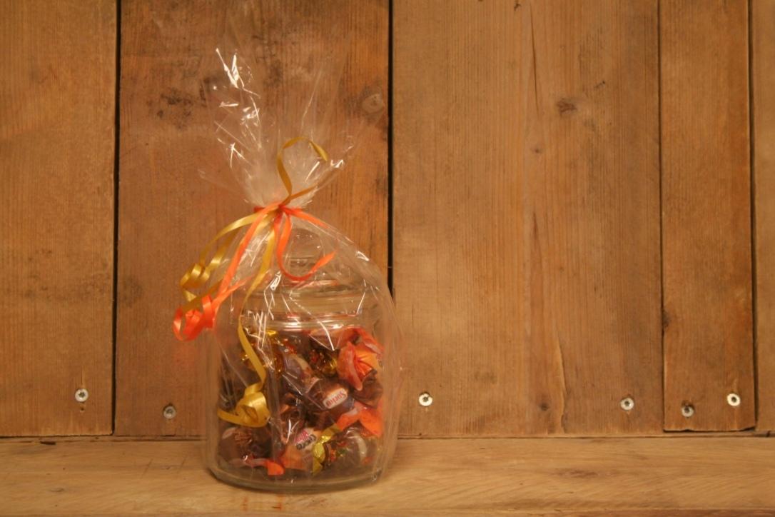 Snoeppot met chocolade
