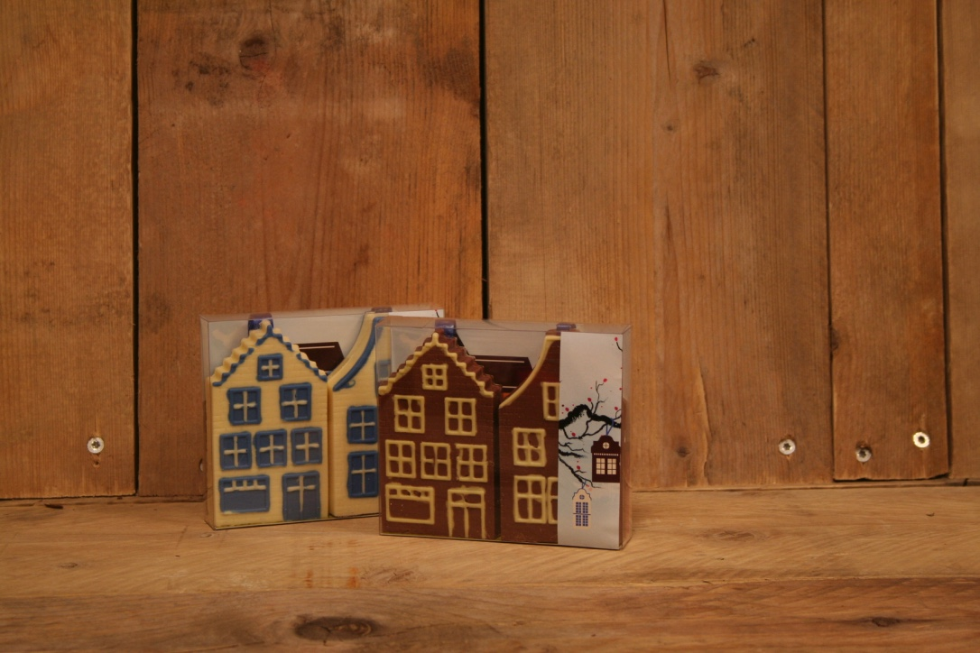 Chocolade huisje wit en melk