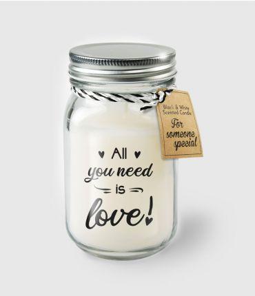 Kaars al you need is love