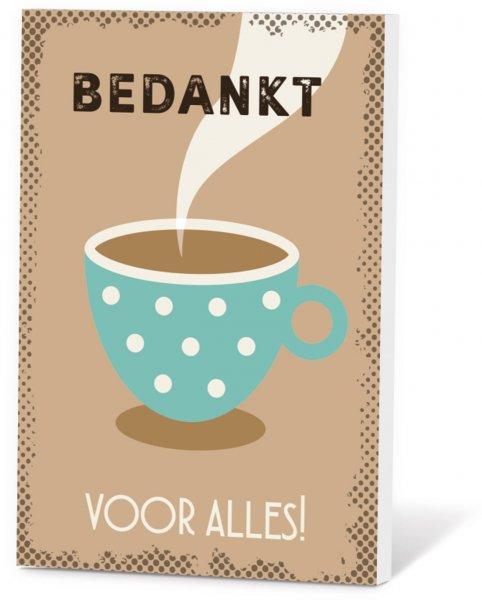 Koffiekaart bedankt voor alles